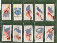 Tobacco Cigarette cards set Shadowgraphs 1915 amazing